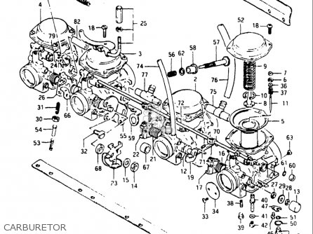 Suzuki Gs750 E 1982 (usa) parts list partsmanual partsfiche