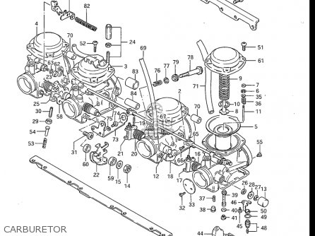 Suzuki Gs750 E ,es 1983 (usa) parts list partsmanual