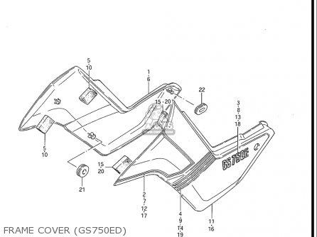 Suzuki Gs750 E ,es 1983 (usa) parts list partsmanual