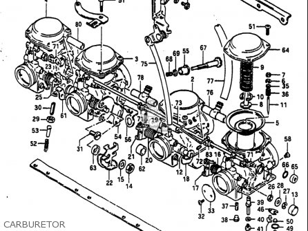 Suzuki Gs750 S 1983 (usa) parts list partsmanual partsfiche