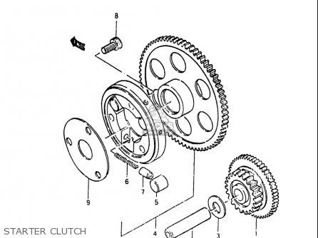 Suzuki Gs750 T 1982-1983 (usa) parts list partsmanual