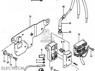 Suzuki GS750A 1983 (D) USA (E03) parts lists and schematics