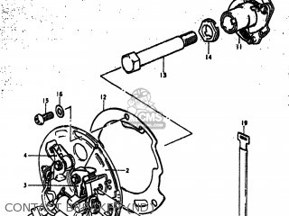 Suzuki Gs750b 1977 (b) Usa (e03) parts list partsmanual