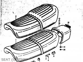 Suzuki GS750B 1977 (B) USA (E03) parts lists and schematics
