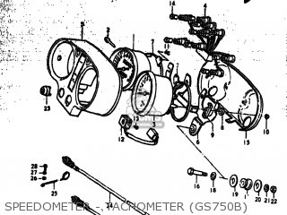 Suzuki GS750B 1978 (C) USA (E03) parts lists and schematics