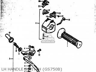 Suzuki GS750C 1978 (C) USA (E03) parts lists and schematics