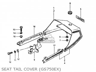 Suzuki GS750E 1980 (T) USA (E03) parts lists and schematics