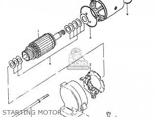 Suzuki Gs750e 1980 (t) Usa (e03) parts list partsmanual