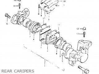 Suzuki GS750E 1982 (Z) USA (E03) parts lists and schematics