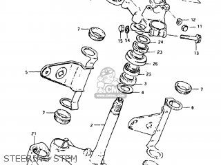 Suzuki Gs750e 1982 (z) Usa (e03) parts list partsmanual