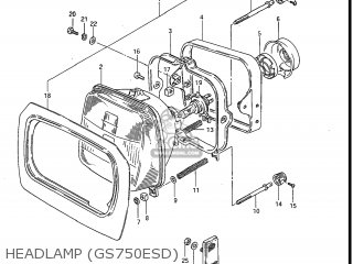 Suzuki GS750E 1983 (D) USA (E03) parts lists and schematics