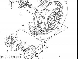 Suzuki Gs750e 1983 (d) Usa (e03) parts list partsmanual