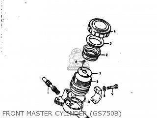 Suzuki Gs750ec 1977 (b) Usa (e03) parts list partsmanual