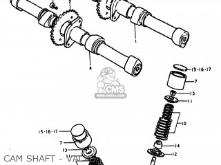 Suzuki Gs750l 1979 (n) Usa (e03) parts list partsmanual