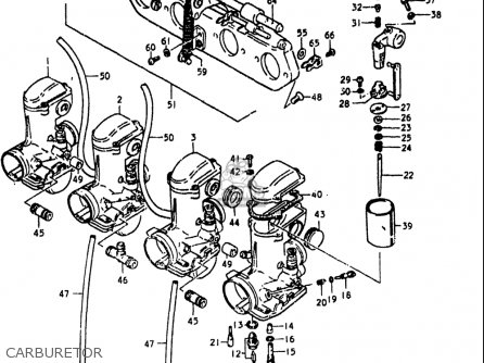 Suzuki Gs750l 1979 (n) Usa (e03) parts list partsmanual