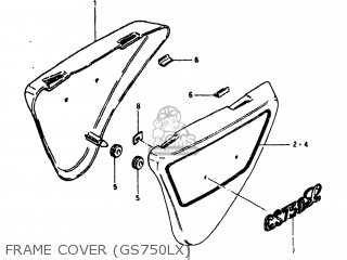 Suzuki Gs750l 1980 (t) Usa (e03) parts list partsmanual