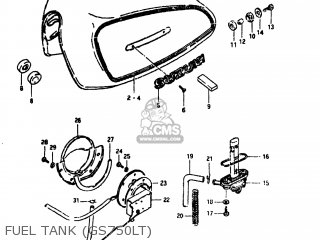 Suzuki GS750L 1980 (T) USA (E03) parts lists and schematics