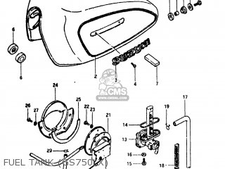 Suzuki Gs750l 1981 (x) Usa (e03) parts list partsmanual