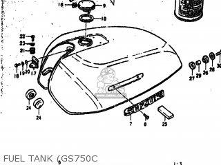 Suzuki Gs750n 1978 (c) Usa (e03) parts list partsmanual