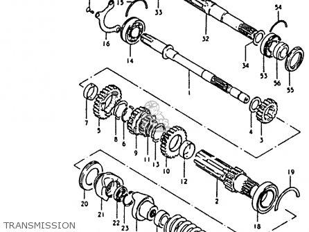 Suzuki Gs850 1980 (gt) parts list partsmanual partsfiche