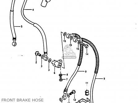 Suzuki Gs850 1985 (gf) parts list partsmanual partsfiche