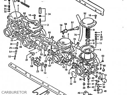 Suzuki Gs850 1986 (gg) parts list partsmanual partsfiche