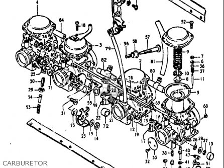 Suzuki Gs850 G 1980-1981 (usa) parts list partsmanual