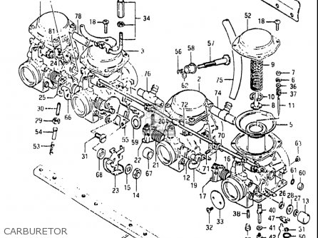 Suzuki Gs850 G 1982-1983 (usa) parts list partsmanual
