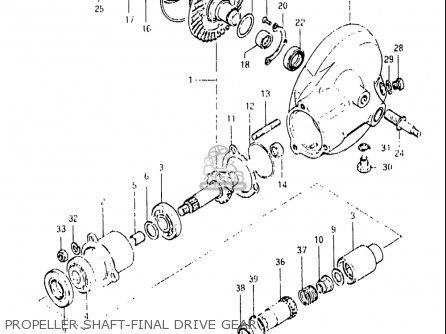 Suzuki Gs850 G 1979 Usa Propeller Shaft Final Drive Gear