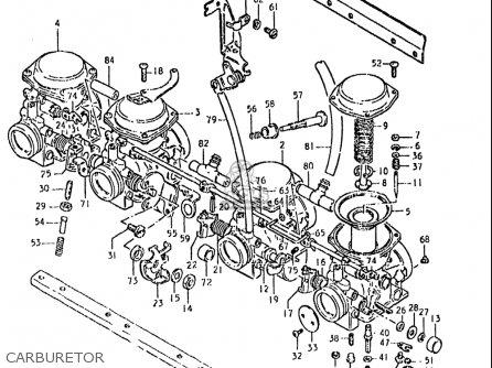 Suzuki Gs850 Gl 1980-1981 (usa) parts list partsmanual