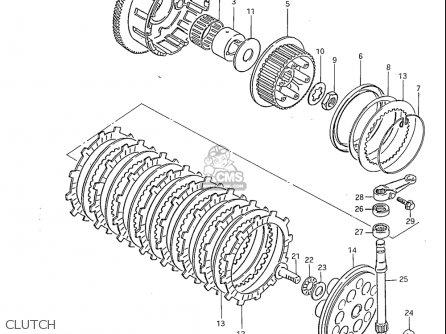 Suzuki Gs850 Gl 1982-1983 (usa) parts list partsmanual