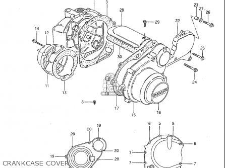 Suzuki Gs850 Gl 1982-1983 (usa) parts list partsmanual