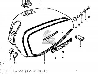 Suzuki GS850G 1980 (T) USA (E03) parts lists and schematics