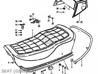 Suzuki Gs850g 1980 (t) Usa (e03) parts list partsmanual