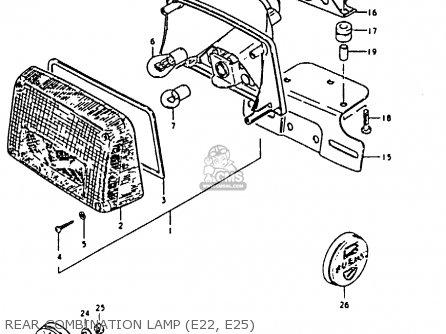 Suzuki GS850G 1981 (X) (E01 E02 E04 E17 E18 E21 E22 E24