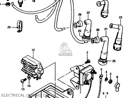 Suzuki GS850G 1983 (D) GENERAL EXPORT (E01) parts lists