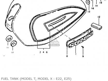 Suzuki Gs850g (e01 E02 E04 E17 E18 E21 E22 E24 E25 E26 E34