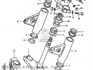 Suzuki Gs850gl 1980 (t) Usa (e03) parts list partsmanual