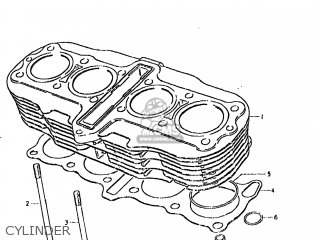 Suzuki GS850GL 1981 (X) USA (E03) parts lists and schematics