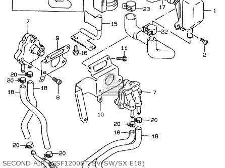 Suzuki GSF1200 1996 (T) (E02 E04 E22 E25 E34) parts lists