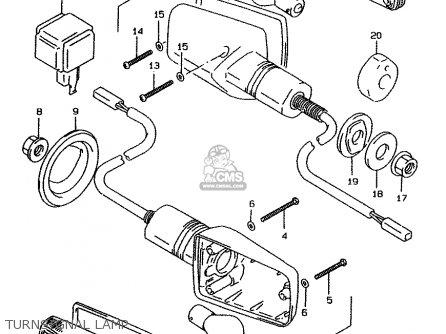 Suzuki Gsf1200 1996 (t) (e02 E04 E22 E25 E34) parts list