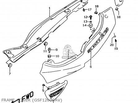 Suzuki GSF1200 1997 (V) (E02 E04 E22 E25 E34) / P37 parts
