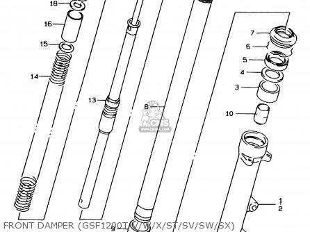 Suzuki GSF1200 1999 (X) (E02 E04 E18 E22 E24 E25 E34