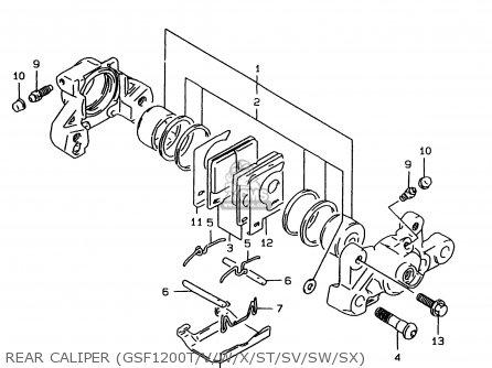 Suzuki GSF1200 2000 (Y) (E02 E04 E18 E22 E24 E25 E34