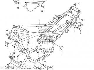 Suzuki Gsf1200 Bandit 2001 (k1) Usa (e03) parts list