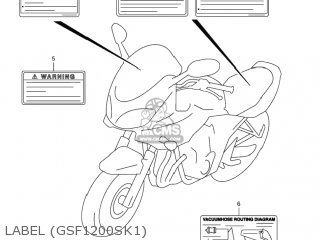 Suzuki GSF1200 BANDIT 2001 (K1) USA (E03) parts lists and