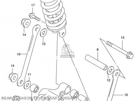 Suzuki Gsf1200 S Bandit 1997-2000 (usa) parts list