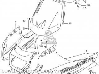 Suzuki GSF1200S BANDIT 1997 (V) USA (E03) parts lists and