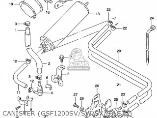 Suzuki GSF1200S BANDIT 2000 (Y) USA (E03) parts lists and