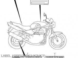 Suzuki GSF1200S BANDIT 2001 (K1) USA (E03) parts lists and